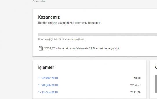 Google Ödemesi....