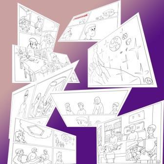 4 sayfalık renksiz çizim bitti..
