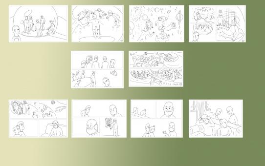 Çizgi öyküye eklenecek 5 yeni sayfanın dijital çizimleri bitti...