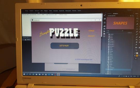 Simple Puzzle adlı yeni küçük oyun...