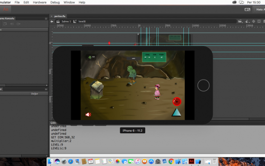 Apple mac os iphonesimulator'de Adobe air mobil uygulama hata ayıklama