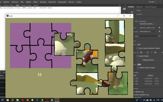 Resimli Masallara puzzle oyunu ekliyorum...