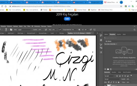 Photosop cc 2020 fırça kullanımı