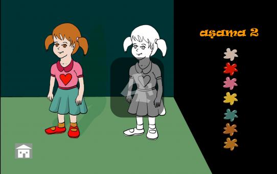 Öykü uygulaması için oyun bölümü